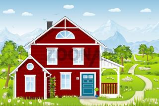 Rotes Landhaus