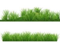 Satz von zwei Illustrationen mit Grashintergrund