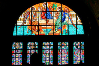 SIBIU, TRANSYLVANIA/ROMANIA - SEPTEMBER 16 : Interior view of the Holy Trinity Cathedral in Sibiu Transylvania Romania on September 16, 2018