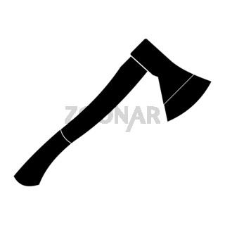 Wooden axe black simple icon