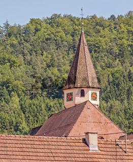 Evangelische  Martinskirche, Kirchberg im Schwarzwald, Landkreis Calw