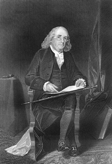 Benjamin Franklin, 1706 - 1790, North American statesman