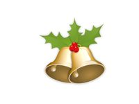 beautiful christmas bells on white background - 3d rendering