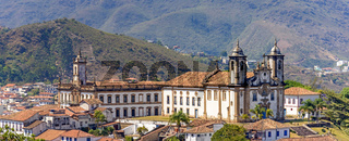Panoramic view from the top of the historic center of Ouro Preto