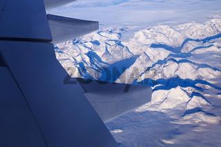 Flug ueber Groenland