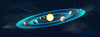 Sun and planets star system