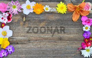 Blüten auf Holz