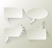 Abstract design speech bubble copyspace