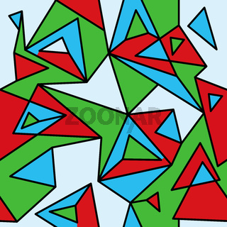 Fragment of geometric cubism, Abstract seamless pattern 2.2.