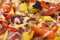 Baked vegetables and cheese