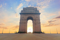 India Gate, famous landmark of New Dehli, no people