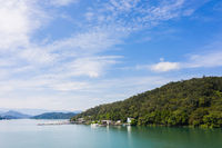 aerial view of famous Sun Moon Lake landscape