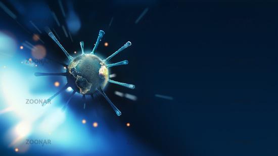 virus molecule close-up