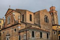 Venice, Italy - 03/18/2019 - Romanesque church in the Castello district