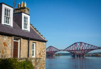Rural Home With The Forth Bridge Behind