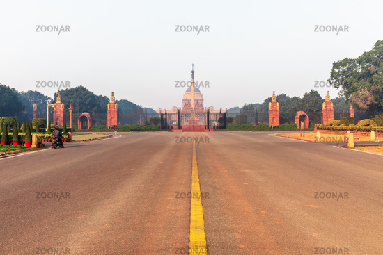 Rajpath boulevard and Rasthrapati Bhawan, New Delhi, India