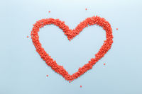 Red sweet candies heart shape