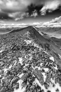 Blick ins Tal Gaskariehppi, Abiskoalpen, Lappland
