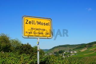 Ortsschild Zell Marienburg