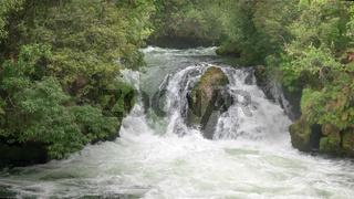 okere falls near rotorua on the north island of nz