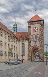 Bickentor mit Klosterkirche St. Ursula, Villingen