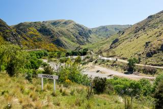 Railway up Taieri Gorge New Zealand