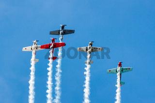 Aerostars Yak 52/50 Aerial Display at Biggin Hill Airshow