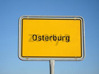 Ortsschild Osterburg