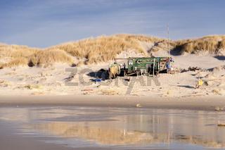 Beach Hut made of Flotsam