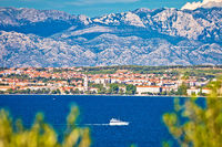 City of Zadar and Velebit mountain background panoramic view