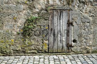 Old wooden door in Rothenburg