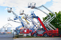 Aerial platform cranes, industrial equipment