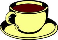 Cup of tea icon, icon cartoon