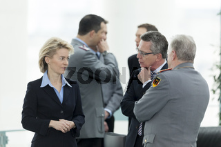 Merkel receives family members of the soldiers