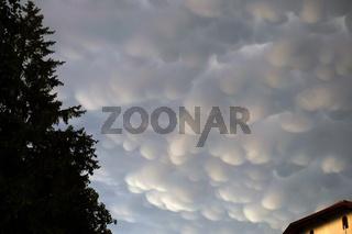 Mammatus- Wolken