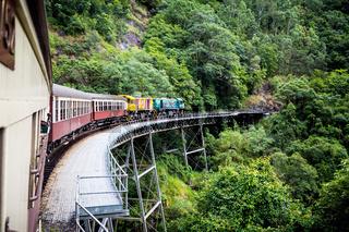 Historic Kuranda Scenic Railway in Australia