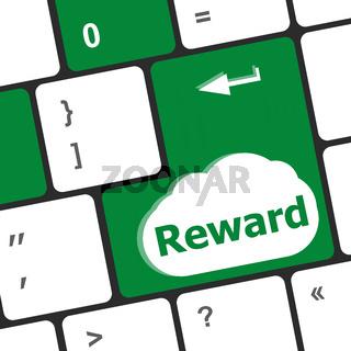 Rewards keyboard keys showing payoff or roi