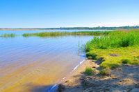 Gräbendorfer See im Lausitzer Seenland, Deutschland - Graebendorfer Lake in Lusatian Lake District on a sunny day, Germany
