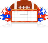 Marquee board announcement with american football ball. Vector