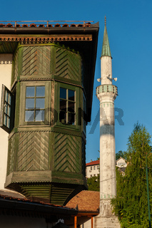 The Inat Kuca or The House of Spite is a traditional Bosnian restaurant beside the Miljacka River in the Old Town of Sarajevo