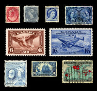 Historic stamps from Canada