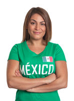 Smiling mexican girl with crossed arms