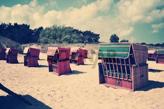 beach chairs retro vintage past nostalgic old