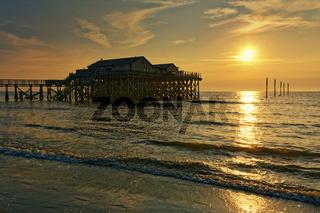 Abend am Strand in Sankt Peter-Ording,Nordsee,Nordfriesland,SH,Deutschland