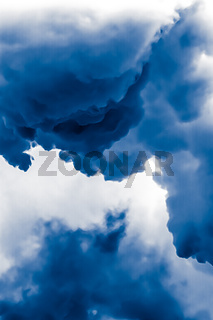 Minimalistic blue cloudy background as abstract backdrop, minimal design and artistic splash