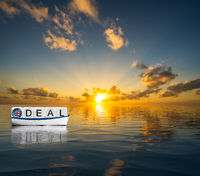 Concept of successful Brexit trading deal in 2020 with UK sailing towards Global Britain future