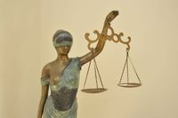 Statue of Lady Justice in court room