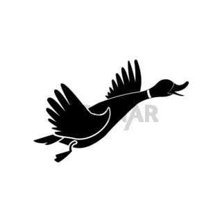 Wild duck black simple icon