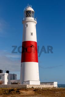 PORTLAND BILL, DORSET/UK - FEBRUARY 16  : View of Portland Bill Lighthouse on the Isle of Portland in Dorset UK on February 16, 2018