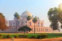 Beautiful view of the Humayun's Tomb, Dehli, India